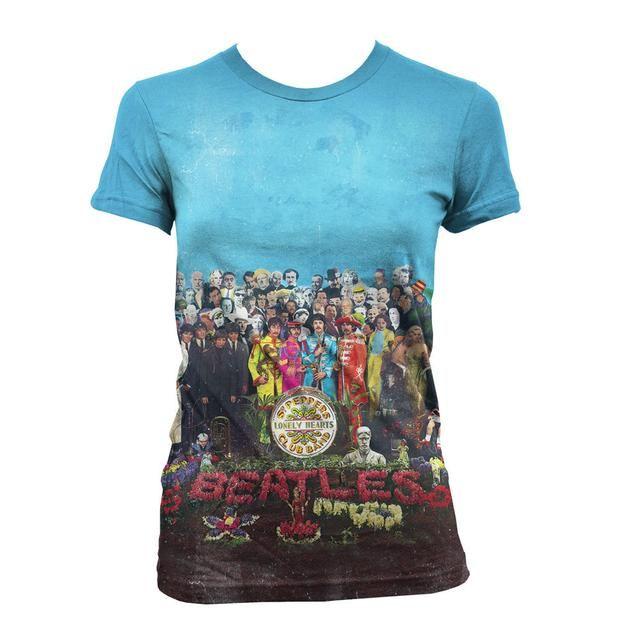 Check out The Beatles Sgt. Pepper's Album Cover Sublimation Women's Shirt on @Merchbar.