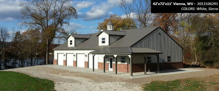 42' x 72' x 11' Cleary Suburban Building   Colors: White, Sierra