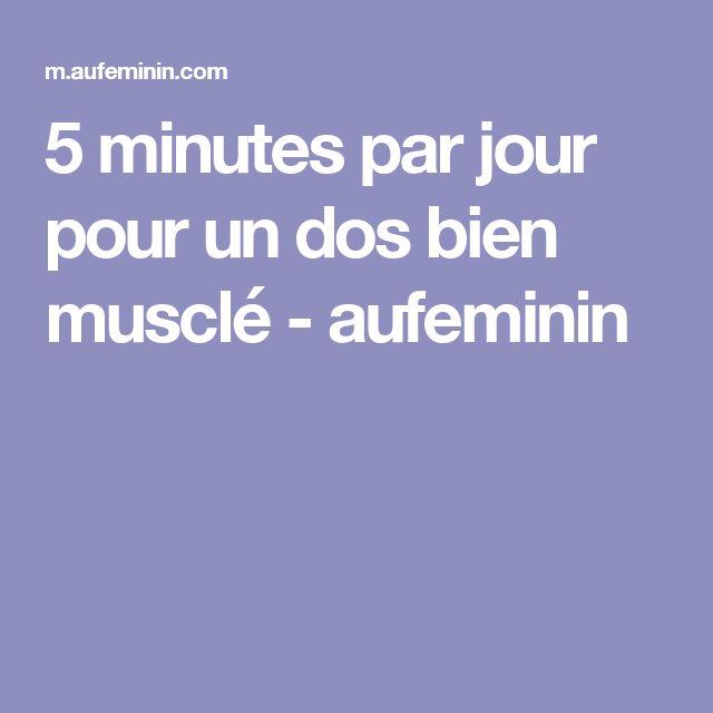 5 minutes par jour pour un dos bien musclé - aufeminin