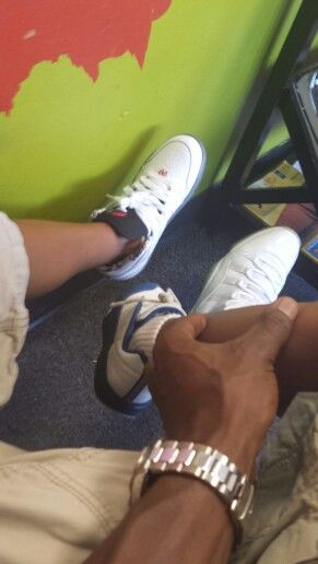 We rock Js....Isaiah 1s, Xavier Trunners, Daddy 25 anniversary 11s....