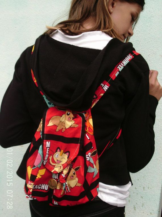 Pokemon backpack  mini purse  bag haversack by Seamtreeshop