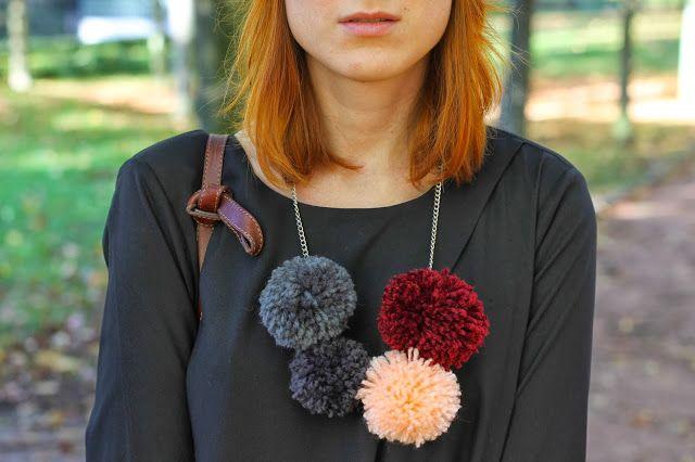 Slanelle Style: DIY : le collier pompons