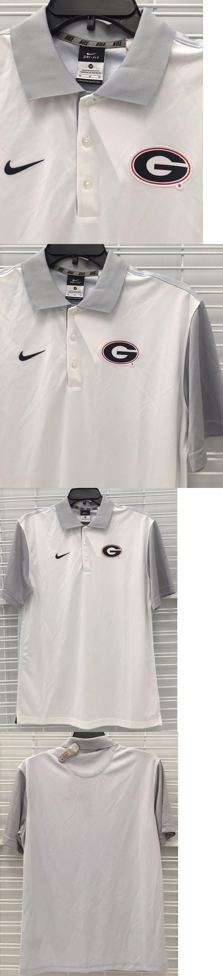 College-NCAA 24541: New Nike University Of Georgia Bulldogs Uga Men S Polo Dress Shirt White Stitch -> BUY IT NOW ONLY: $32.99 on eBay!