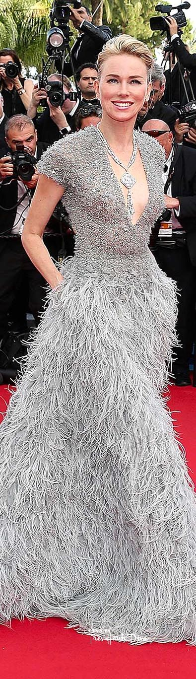 #Naomi #Watts, in a grey Elie Saab Couture gown  ♔ #Cannes Film Festival 2015 Red Carpet ♔ Très Haute Diva ♔