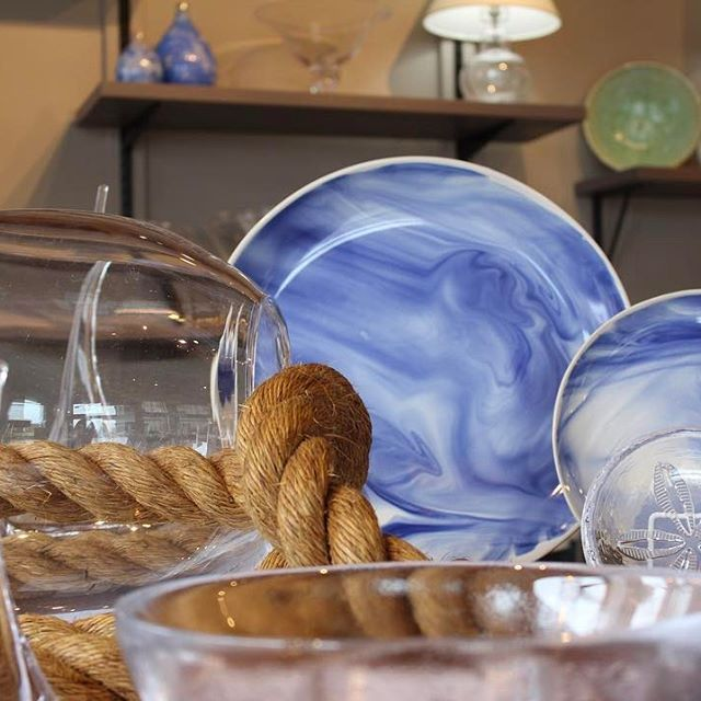 Marble Pottery bring livelihood to any table. Available in Indigo & Stratus.
