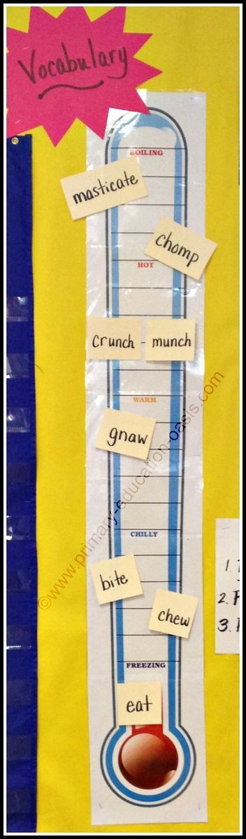 From Primary Education Oasis - Tier 2 vocabulary in CCSS (shades of meaning and text complexity).  Pinned from http://theteacherblog.primary-education-oasis.com/my-blog/2015/01/building-vocabulary-skills-with-a-thermometer.html#