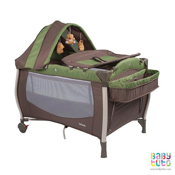 Cuna Playard Luna verde, $79.990 (precio referencial). Marca Infanti: http://bit.ly/1RmeE1z
