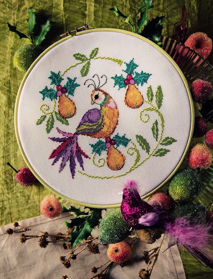 Pretty Partridge - Available in Cross Stitcher Collection 295