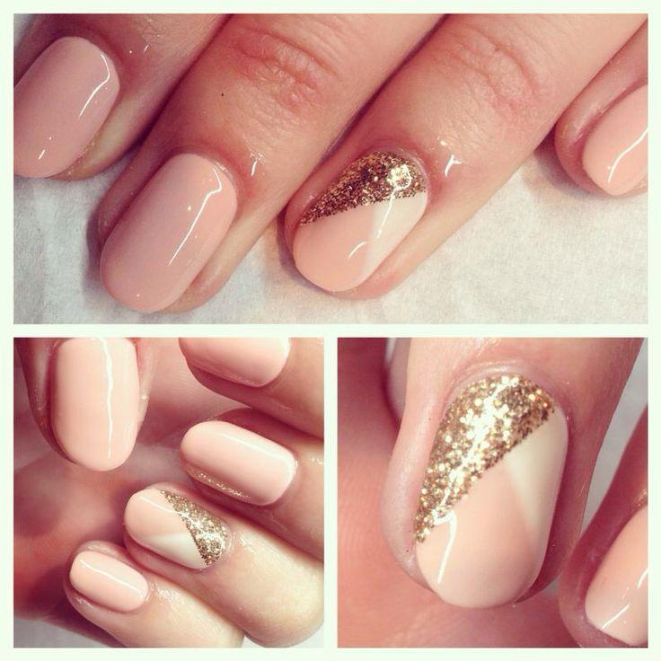 Calgel nail art design x