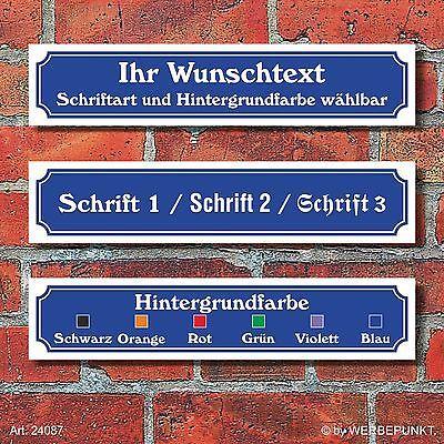 Straßenschild Hausnummer Schild nach Wunsch wetterfest 3 mm Alu-Verbund 52x11 cm