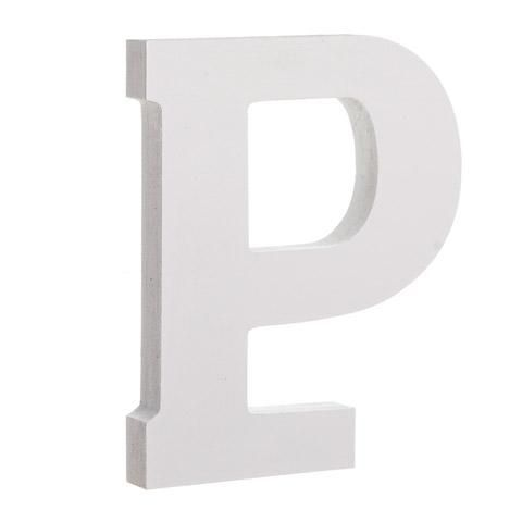 Classic Font White Color Wooden Letter P  Classic Fonts And