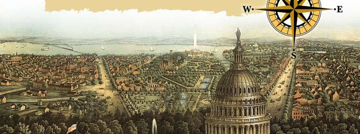 View of Washington DC from 1871 Library of Congress Geography
