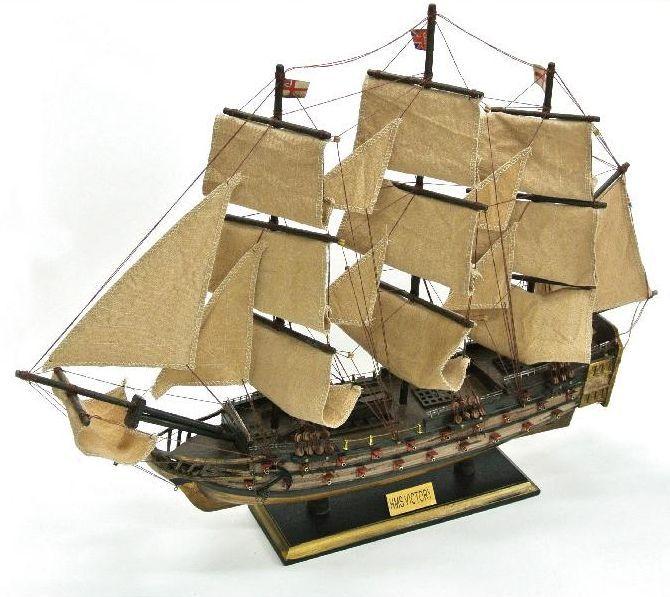 送料無料 木製帆船 hmsヴィクトリー号 全長 70センチ 完成品 イギ 帆船 お店 市場