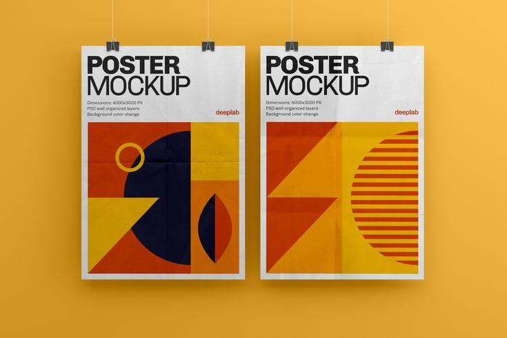 Vertical Poster Mockup Set Poster Mockup Poster Mockup Psd Mockup