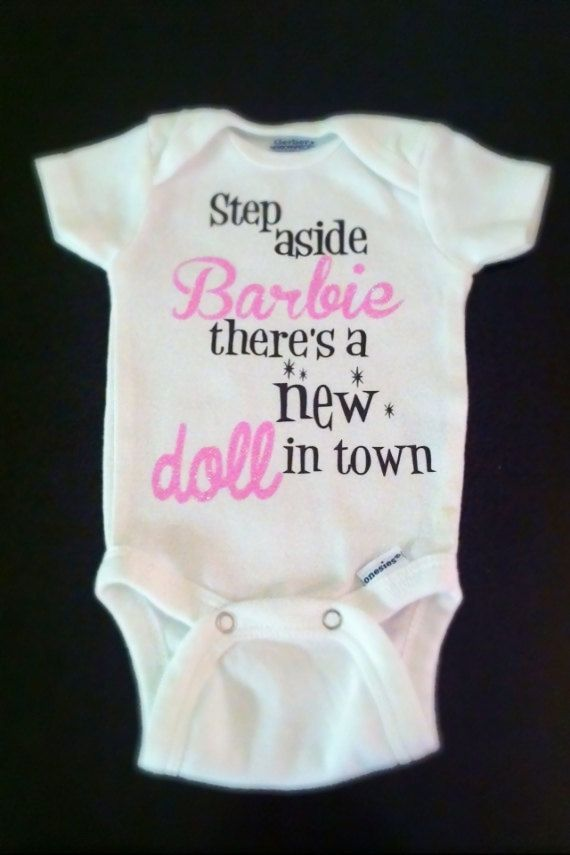19 best baby showers and christenings images on pinterest baby step aside barbie onesie baby swimsuitpersonalized negle Images