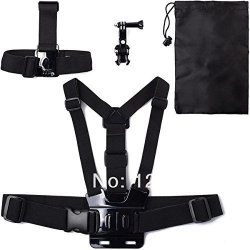 BuyerKit(TM) 4IN1 Head Strap Mount   Chest Belt   Bag   3-way Adjustment Base For Gopro Hero Camera 1 2 3 3  OS012-SZ -- Continue to the product at the image link.