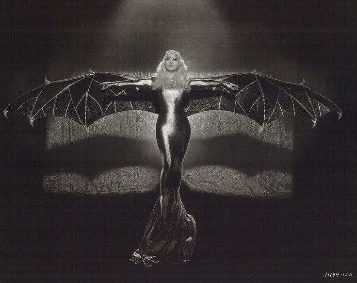 "Mae West in bat costume: ""Belle of the Nineties"" stars Mae Westi n her fourth feature film. Set in the Gay Nineties, circa 1892-93, in St. Louis, Ruby Carter (Mae West) is a burlesque queen"""