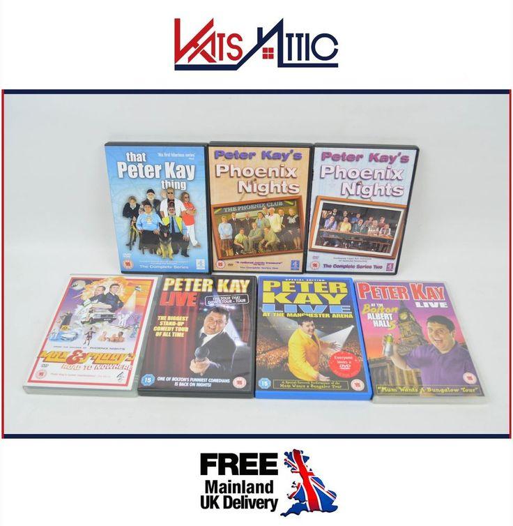 7 x Peter Kay DVDs inc Phoenix Nights 1 & 2 That Peter Kay Thing & Max & Paddy