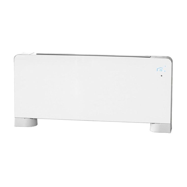 43 in. Ultra-Thin 19600 Btuh Glass Hydronic Baseboard Heater, White