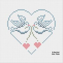 Gallery.ru / Все альбомы пользователя irisha-ira. Hundreds of cross stitch hearts