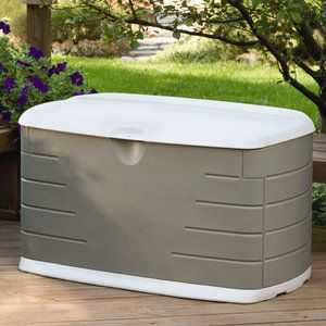 Rubbermaid 75-Gallon Outdoor Storage Box  Probably would be great to store feed!