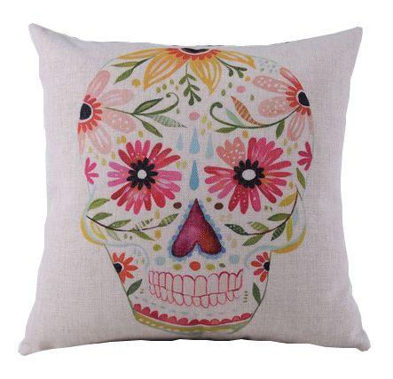 Сushion Pink skull http://loft-concept.ru/catalog/podushki/ Декоративная подушка Розовый череп