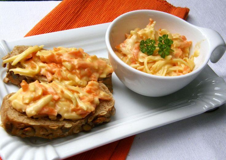 Pomazánka Pavarotti (uzený sýr+mrkev)