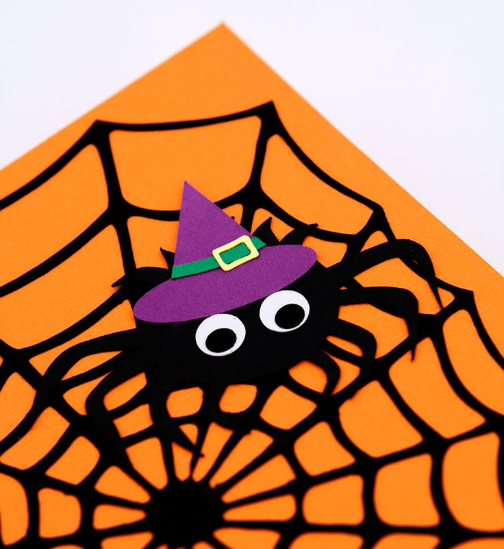 Felicitare Paianjen Halloween