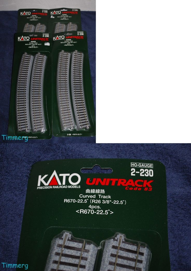 Track 97168: Kato Unitrack 2-230 Lot Of 4 Ho Curve Track R670 22.5-Deg 4 Pcs. Each 16 Total -> BUY IT NOW ONLY: $49.99 on eBay!