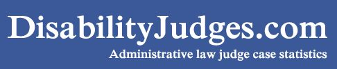 Judges Database, Administrative law judge case statistics