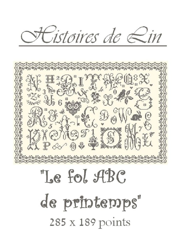 HISTOIRES DE LIN Le Fol ABC de printemps
