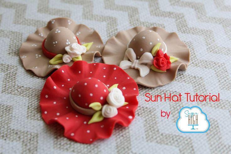 Sun Hat tutorial to celebrate Mother's Day! http://tinyurl.com/SHISunHat #fondant #diy #mothersday