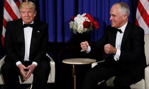 Trump told Malcolm Turnbull: 'We have a failing healthcare. I shouldn't say this to our great gentleman and my friend from Australia, because you have better healthcare than we do.'