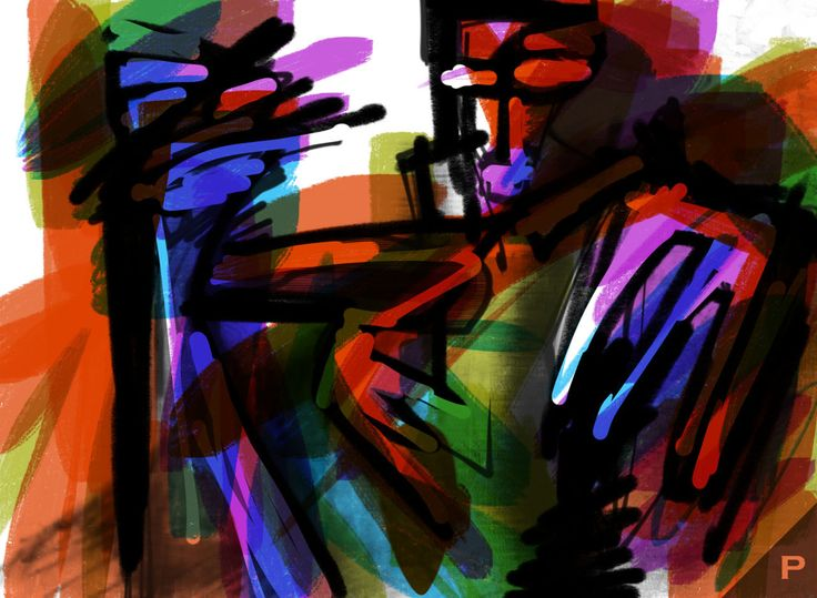 Gestures of Two #Litography + #Digital Art App_art