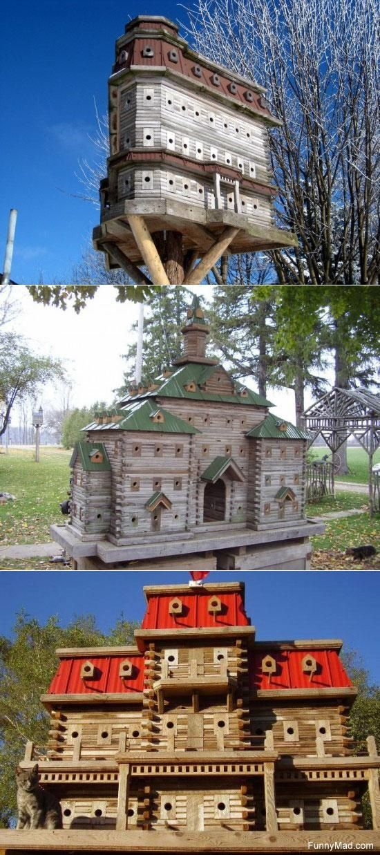 Close up of the bird house condo--it will be a one of a kind --too much work -especially the antique finish with coats of buttermilk and sanding and staining on 40+ houses! Description from pinterest.com. I searched for this on bing.com/images
