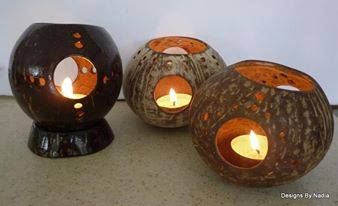 Handmade Coconut Candle Holders