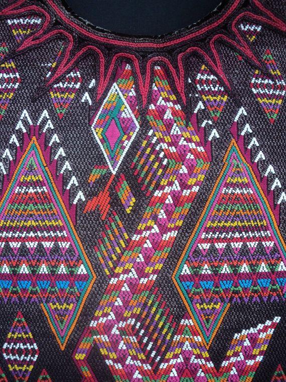 vintage huipil de chichicastenango con quetzalcoatl