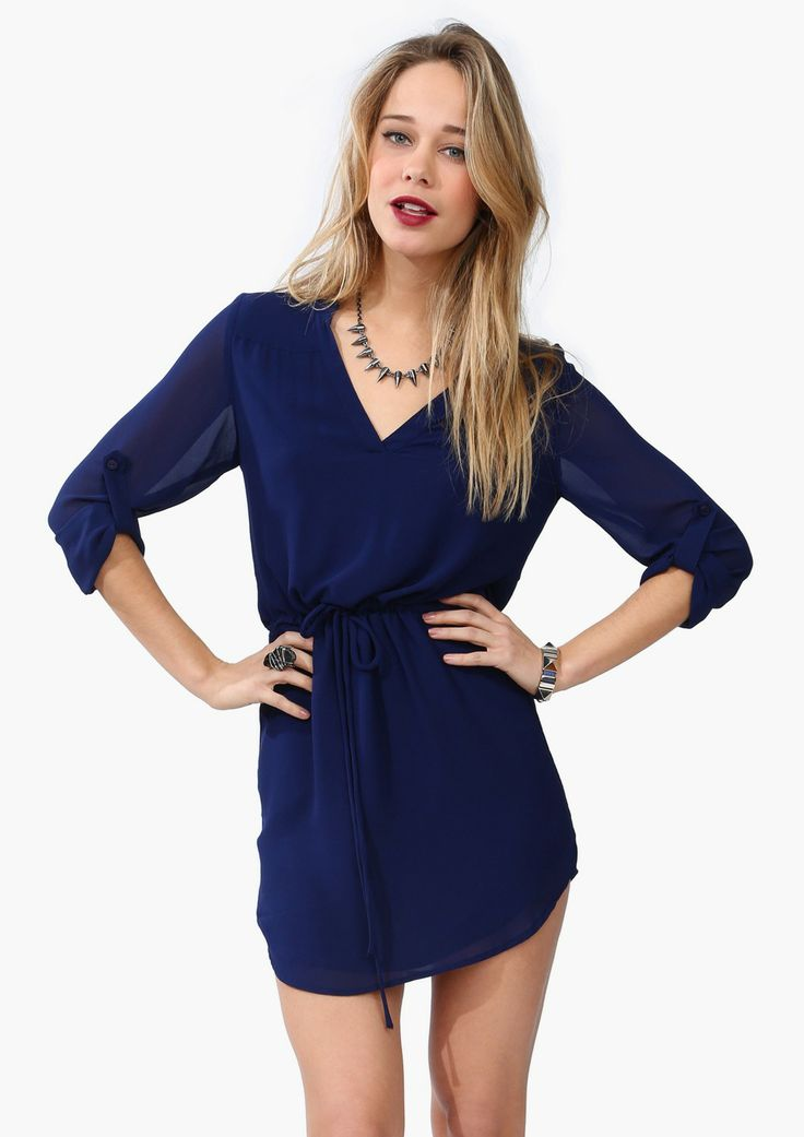 kane drawstring dress - necessary clothing