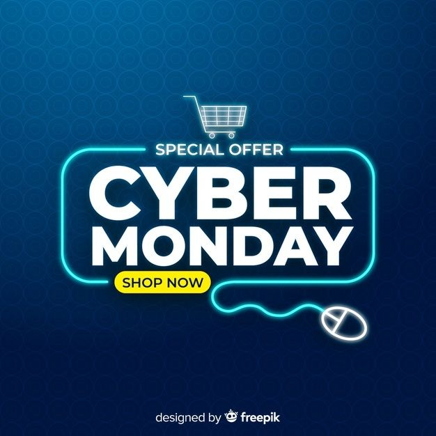 Download Cyber Monday Concept With Flat Design Background For Free In 2020 Cyber Monday Design Print Design Template Free Graphic Design