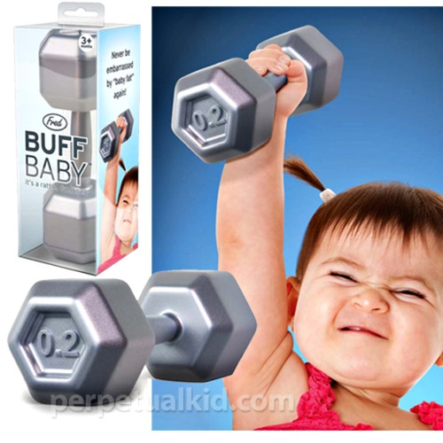 Little rattles that look like weights! Get then started young. :): Buff Baby, Baby Baby, Baby Boys, Baby Rattle, Future Kids, Baby Dumbbell, Baby Stuff, Baby Shower, Dumbbell Rattle