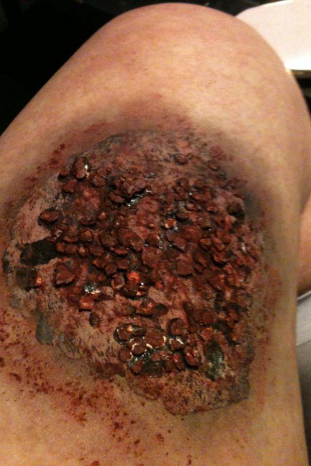 DIY zombie makeup! My zombie wound