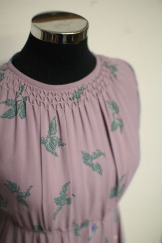 Lilac vintage dress with floral print
