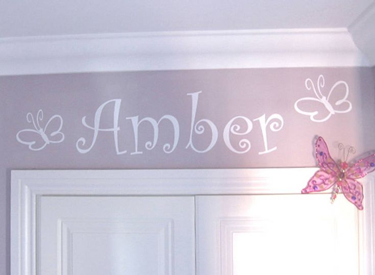 Bees Or Butterflies Personalised Wall Sticker