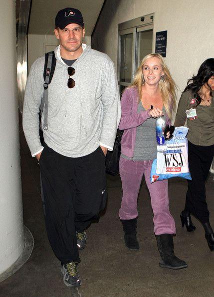 David Boreanaz Photos Photos - Actor David Boreanaz and his wife Jaime Bergman…