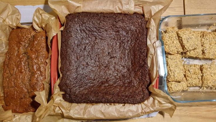 #Baking day. Banana nut loaf Yorkshire parkin and flapjack. Not sure if the parkin is quite right as it's my first attempt. We'll find out in a few days when it should be good and sticky.