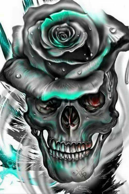 Черепа и розы - любимый дуэт!
