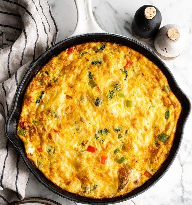 Best Vegetables Fritata Easy Frittata Recipe Frittata Recipes Best Frittata Recipe