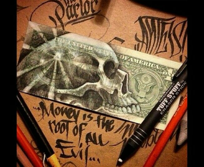 Love Of Money Is The Root Of All Evil Tattoo Love Of Money Is The