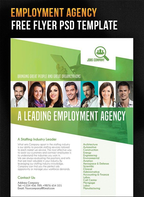 Employment Agency  Free Flyer Psd Template  Design Stuff