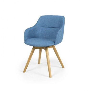 Eetkamerstoelen : Sofia flow chair blauw (Per 2 stuks)